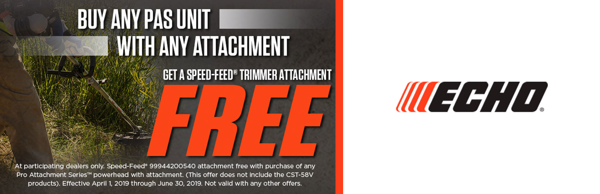 ECHO: Free Speed-Feed® Trimmer Attachment